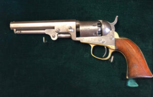 A Colt model 1849 pocket revolver made in 1862, about $800.
