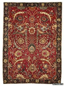The Corcoran Gallery of Art's Clark Sickle-Leaf Carpet, from the collection of William Clark, was sold at auction for $33 million.