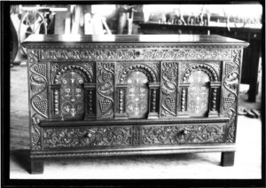 Carved chest by Olof Althin, 1900-1913 photo: Winterthur Library