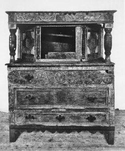 Cupboard prior to restoration