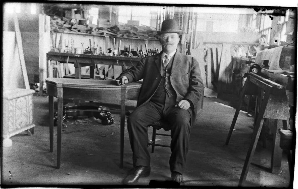 Olof Althin in his workshop photo: private collection