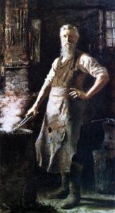 The Village Blacksmith by Thomas Hovenden (American (born Ireland), Dunmanway 1840–1895 Plymouth Meeting, Pennsylvania
