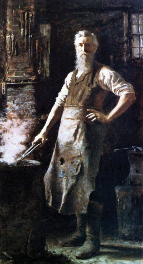 The Village Blacksmith by Thomas Hovenden (American (born Ireland), Dunmanway 1840–1895 Plymouth Meeting, Pennsylvania