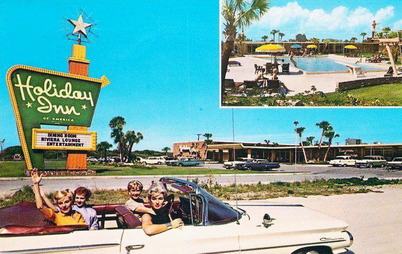 1950s Holiday Inn Postcard Cape Canaveral, Florida