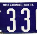 Early Massachusetts Porcelain License Plate