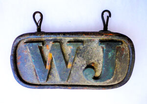 Early New York License Plate with Initials Only