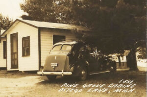 Pine Grove Cabins, Ostego Lake, Michigan, 1940s