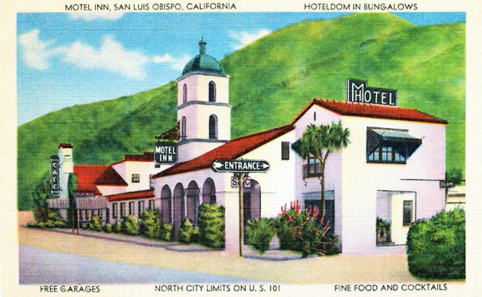 Postcard for the first motel – The Milestone Mo-Tel Inn