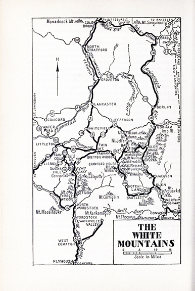 The White Mountains map