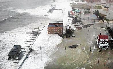 2012 Hurricane Sandy effects on the Atlantic City Boardwalk