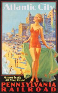 Pennsylvania Railroad Atlantic City ca. 1935 by Edward M. Eggleston