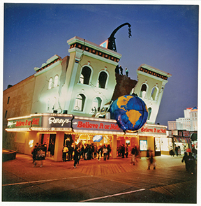 The Ripley's Museum at night on the Atlantic City Boardwalk