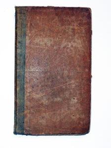 An 1823 book in original plain boards