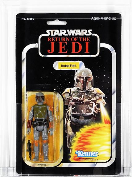 1983 Kenner Star Wars' Return of the Jedi 65 Back-A Boba Fett sold April 20, 2019, for $875 photo: Bruneau & Co.