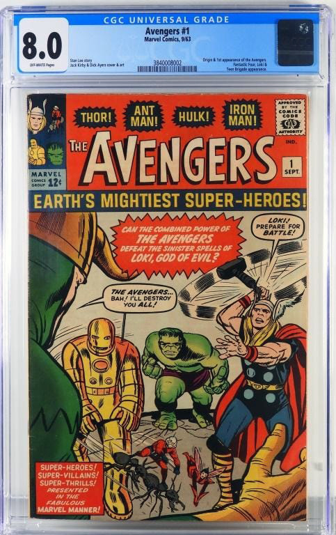 Copy of Avengers #1,$23,125, Bruneau & Co.