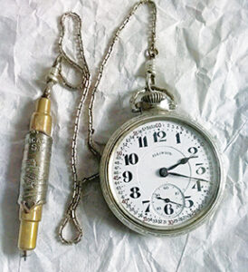 Rare Hamilton railroad Conductor pocket watch Chicago Union Station fob selling for $10,000 on eBay