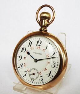 Longines Express Monarch Canadian railroad pocket watch, 1901