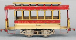 Lionel Early Standard Gauge trolley No. 2