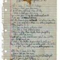 Prince handwritten lyrics,$150,986, RR Auction