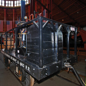 This operating replica of the Tom Thumb follows the general description given by Peter Cooper, but was built for performance in the 1927 Fair of the Iron Horse rather than historical accuracy.