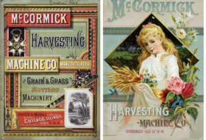 McCormick catalog covers from 1882 and 1887