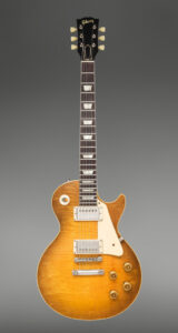 A 1959 Gibson Les Paul Standard Sunburst guitar sold for $350,000 at the sale of the Neal Schon vintage guitars collection held July 31st by Heritage Auctions in Dallas, TX