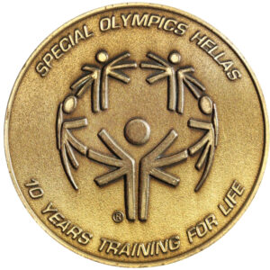1998 Special Olympics Participation Medal (awarded during the 30th year of Special Olympics) given to an athlete for ten years of competing, selling for $30 on eBay