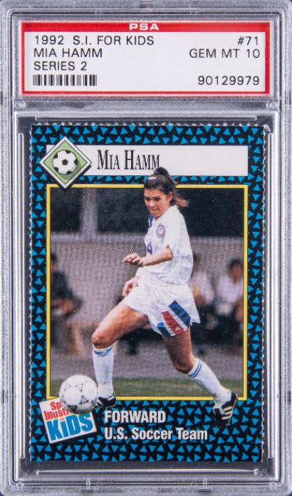 Mia Hamm rookie card,$34,440, Goldin Auctions