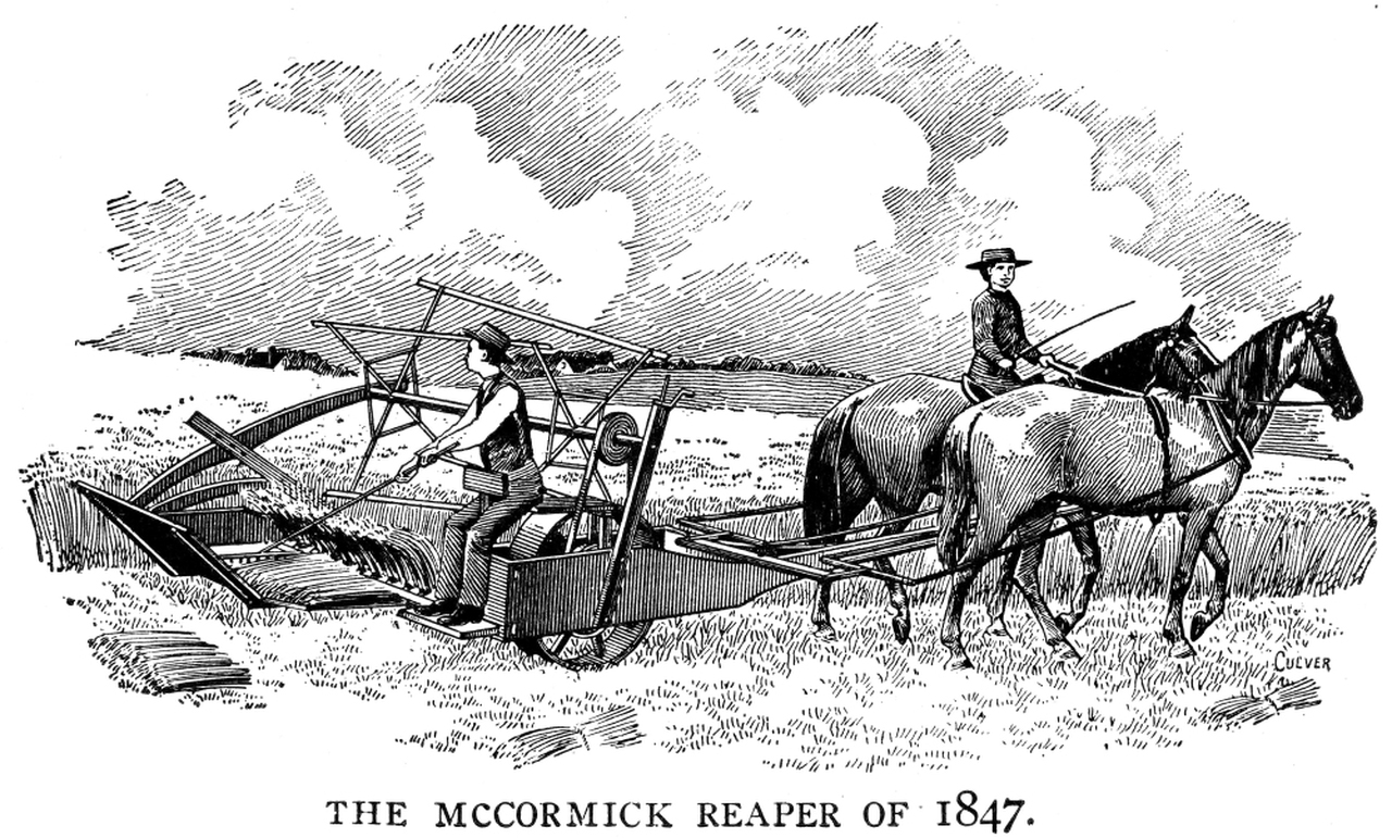 An early illustration of the McCormick Reaper, 1847