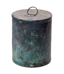 Peter Durand was the first to store food, raw and half-cooked, in tin cans. King George III granted him a patent for the container in 1810. The open container was meant to be boiled or someway heated while uncapped, then sealed to maintain freshness.